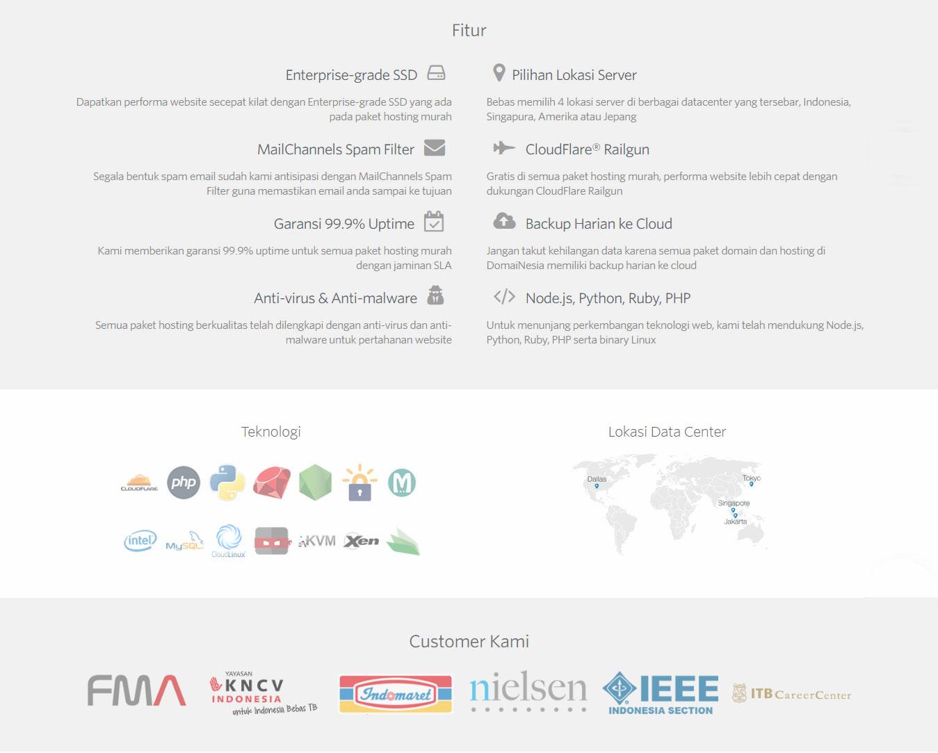 Daftar Paket Domain dan Hosting Domainesia