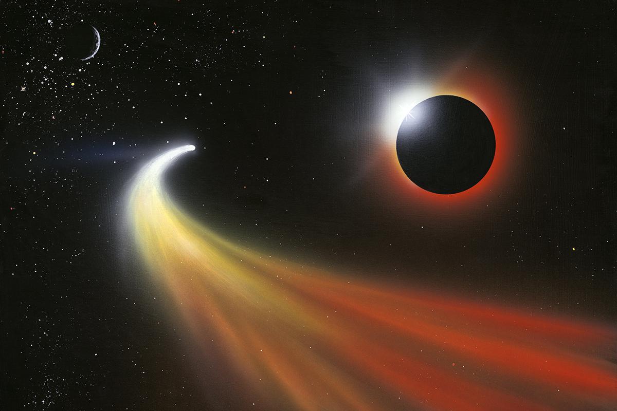 Кометы солнечной системы картинки