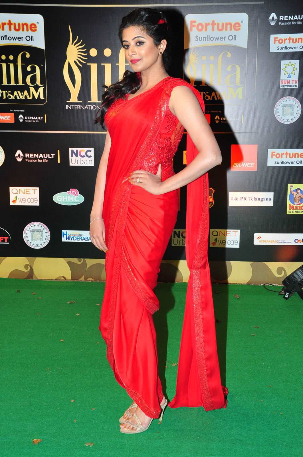 Priyamani Latest Photos At IIFA Utsavam Awards In Red Saree