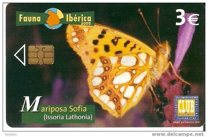 Tarjeta telefónica Mariposa sofía (Issoria lathonia)