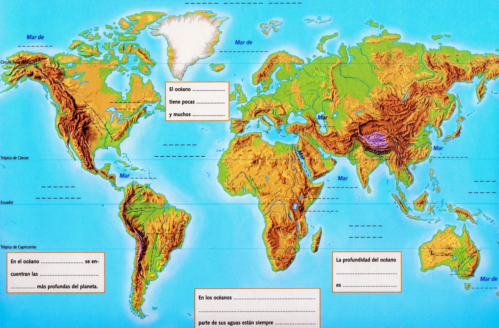 mapa mares blog de Pedro Pulido: Mapas Océanos, Mares y Ríos mapa mares