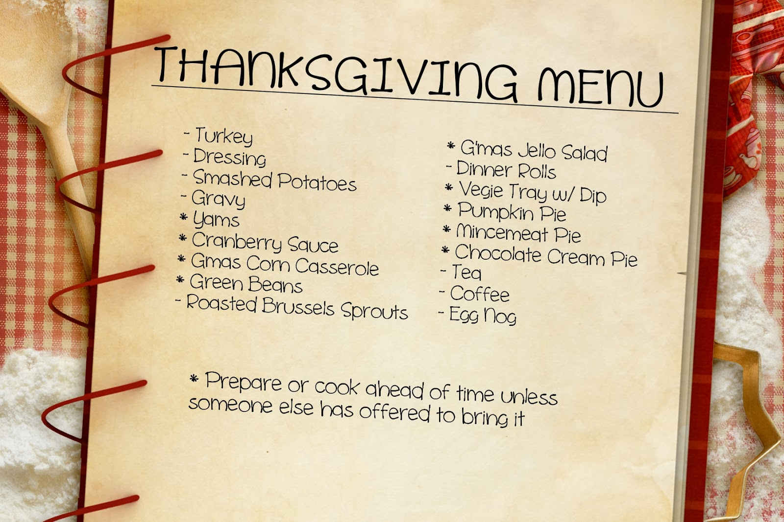 Isavor the weekend thanksgiving meal planning made easy