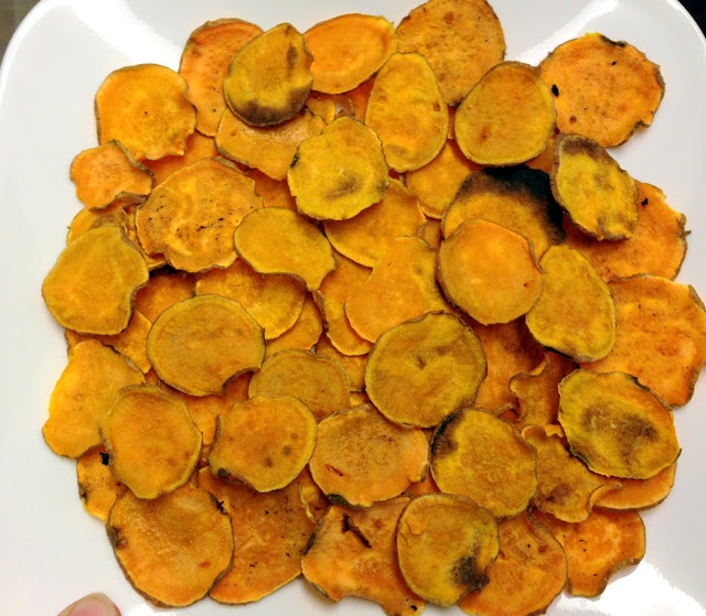 Attack Of The Hungry Monster Baked Sweet Potato Chips