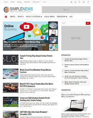 CB Simple News - Premium News Site Blogger Template