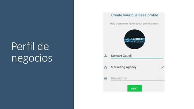 WhatsApp Business perfil de negocio