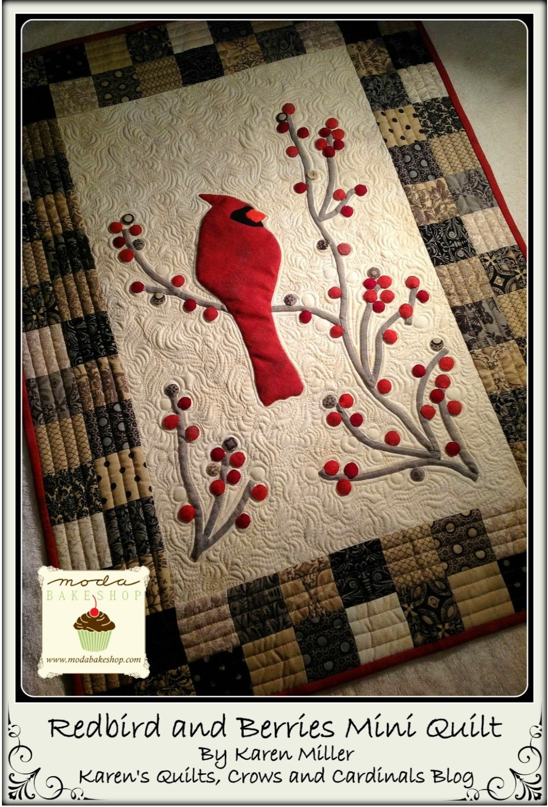 Karen S Quilts Crows And Cardinals Welcome Redbird And