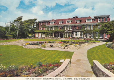 Sea and South Frontage, Hotel Miramar, Bournemouth. Eversheds. St Albans. Postally unused