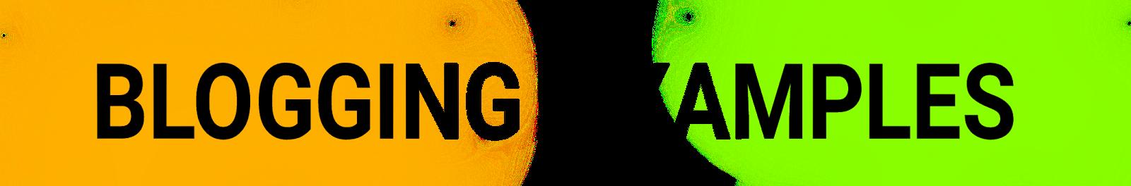 Blogging example