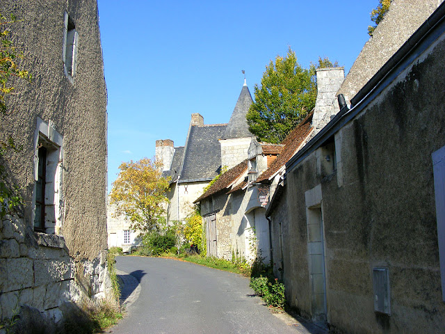 The main street in Crissay sur Manse, Indre et Loire, France. Photo by Loire Valley Time Travel.