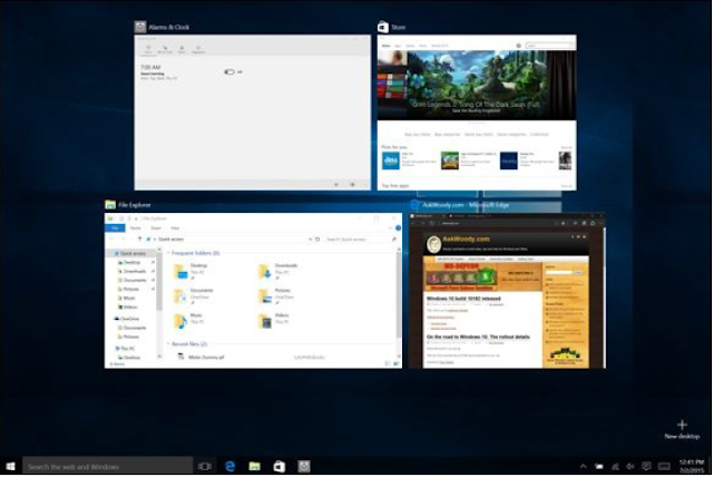 Getting around Multiple Desktops | Windows 10