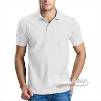 Kaos Polo Shirt Pria Warna Putih
