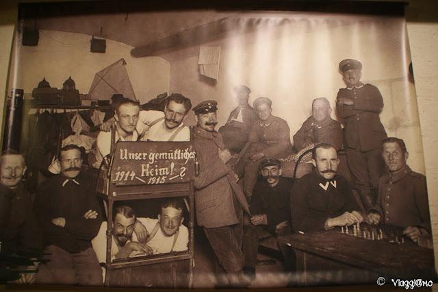 Foto storica all'interno del Forte di Mutzig in Alsazia