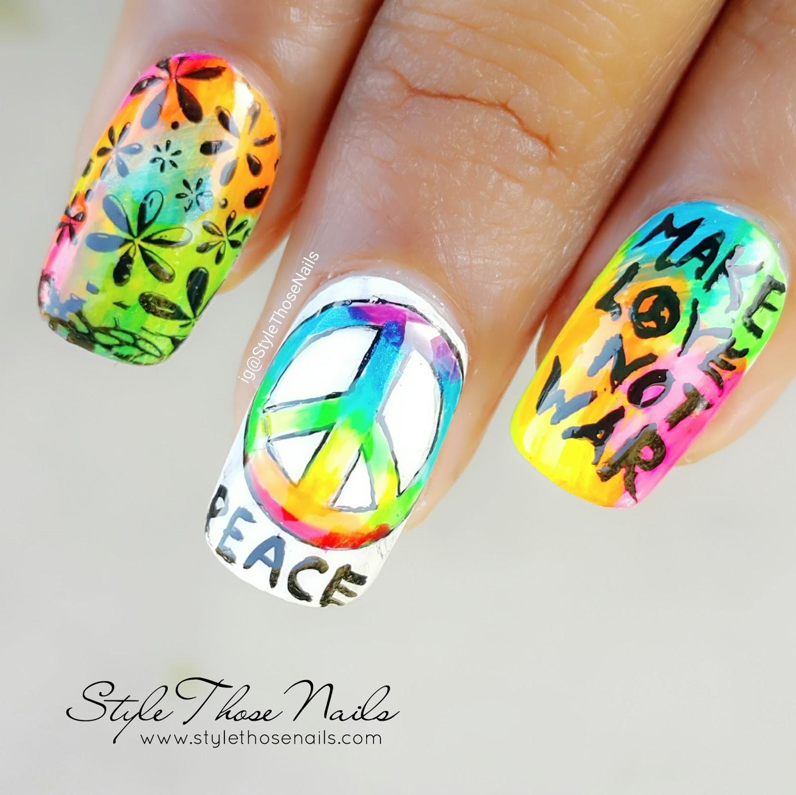 Style Those Nails Hippie Nailart Youtube Collaboration January