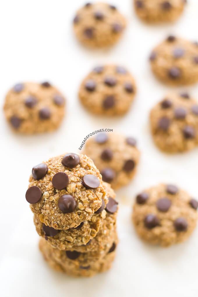Vegan Chocolate Oatmeal Cookies | danceofstoves.com