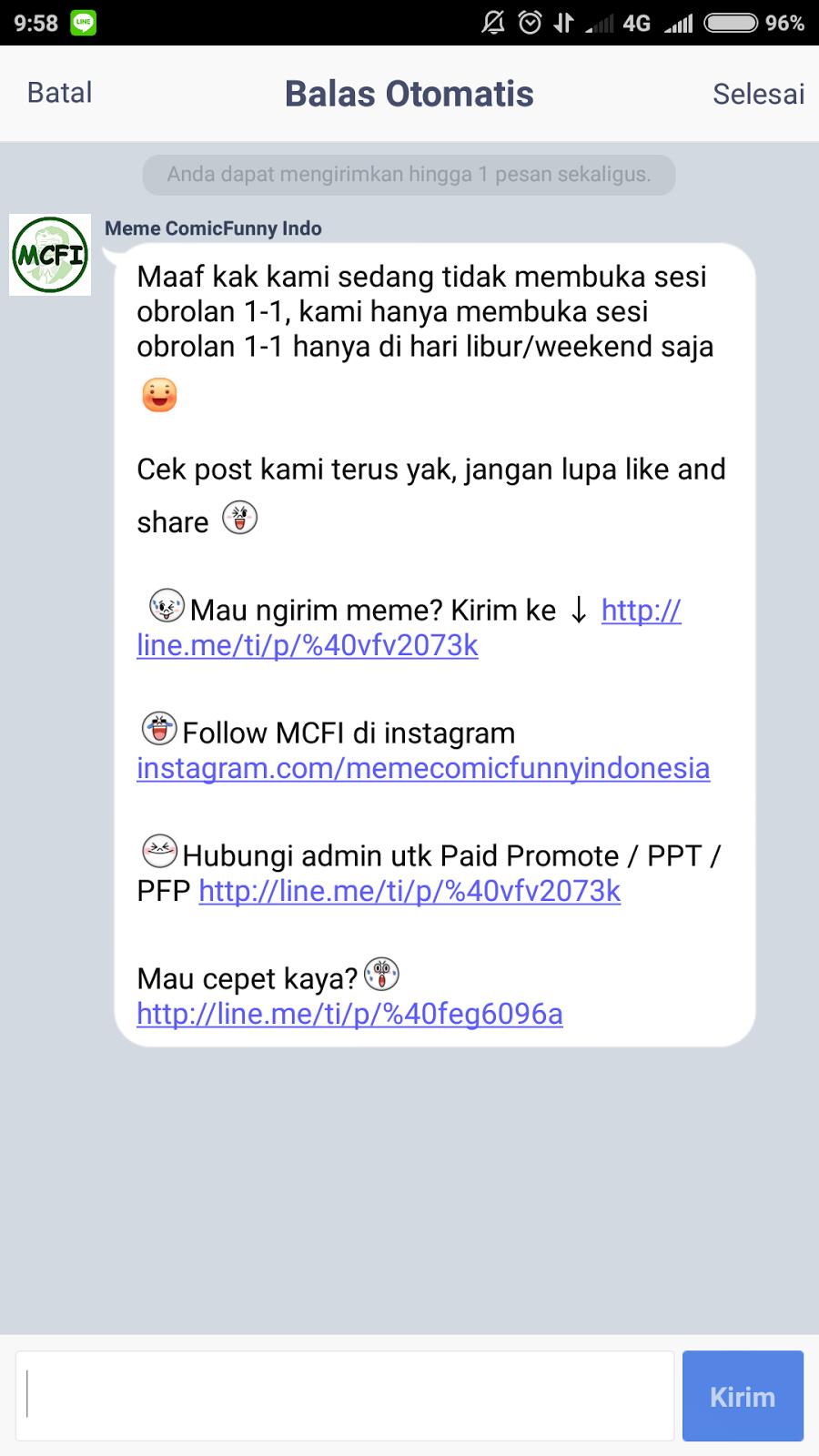 Cara Membuat Auto Reply Official Line  Anak Forum