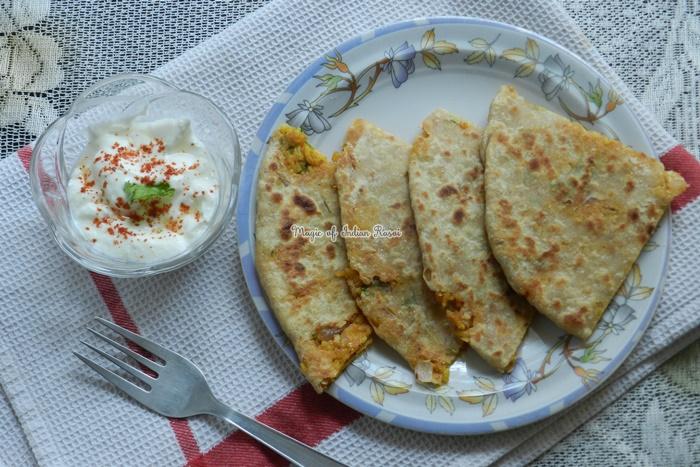Leftover Pulav Rice Paratha Recipe - बचे हुए पुलाव चावल का पराठा की रेसिपी - Priya R - Magic of Indian Rasoi