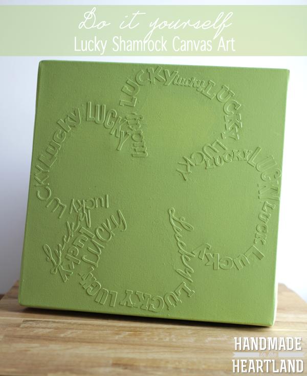 DIY Lucky Shamrock Canvas Art