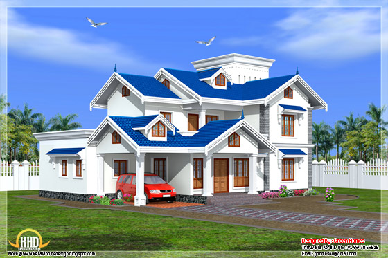 3450 square feet 4 BHK Kerala style house