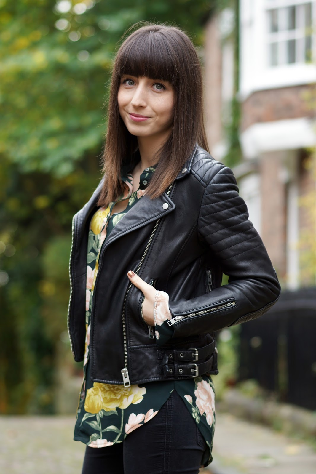 Hello Freckles All Saints Leather Biker Jacket #BikerPortraits Outfit Personal Style
