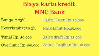 daftar Biaya Kartu Kredit MNC Bank Gold Platinum dan Titanium