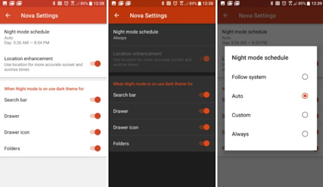 Nova Launcher v4.3 Apk Night Mode