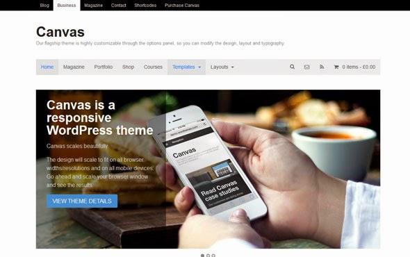 Tema WP Keren: Canvas v5.9.0 - Woothemes WordPress Theme