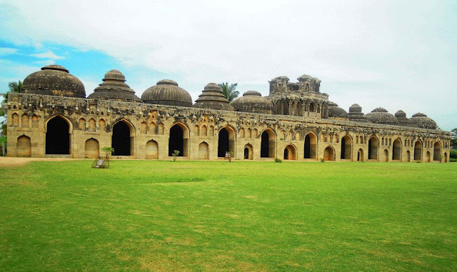 The Elephant stables for the royal elephants in Hampi.