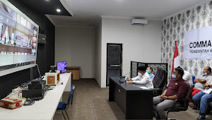Rakor Virtual Pengendalian Covid-19 dan Larangan Mudik Lebaran Bersama Gubsu dan Bupati/Wali Kota Se Sumut