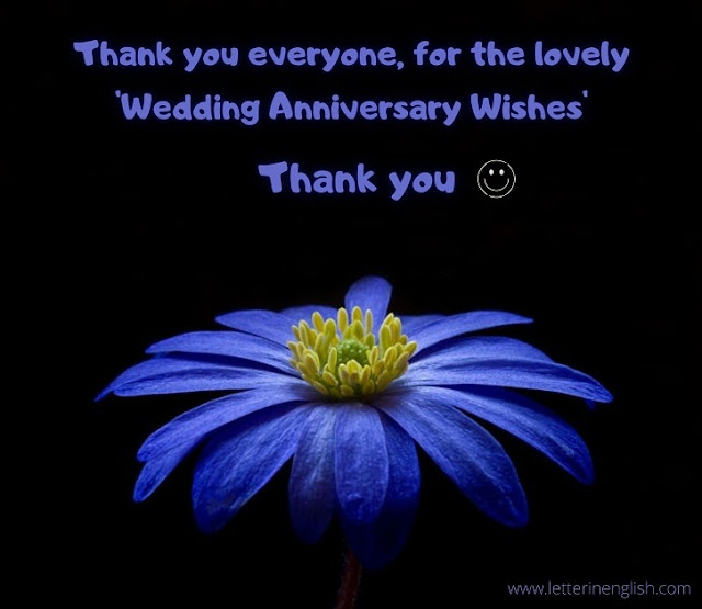 Thank you message for anniversary wishes