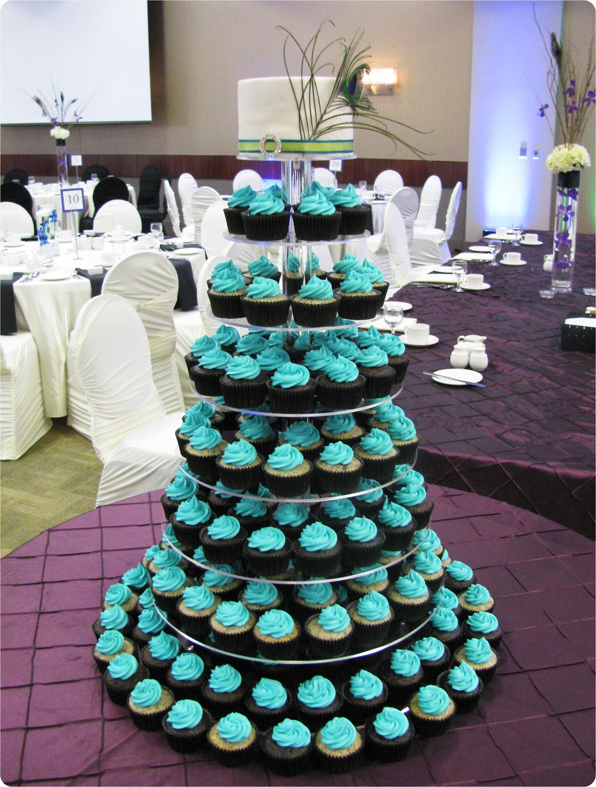 sweets sprinkles pretty peacock wedding a new cupcake stand. Black Bedroom Furniture Sets. Home Design Ideas