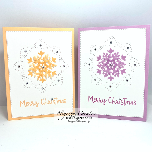 Snowflake Christmas Card With Whimsy Stitching