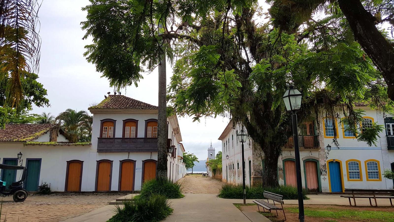 Praça da Matriz em Paraty.