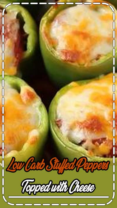 A meaty low carb stuffed peppers recipe that makes a tasty keto friendly meal. It can even be made ahead and frozen for an easy meal any time. cheese peppers // keto recipes easy // keto dinner recipes // low carb diet // gluten free living // gluten free foods // #glutenfree #glutenfreerecipes #ketogenicrecipes #ketorecipes #lowcarbrecipes #lowcarbmeals