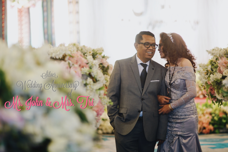 Silver Wedding Anniversary of Mr. John & Mrs. Tri by Jetset EO