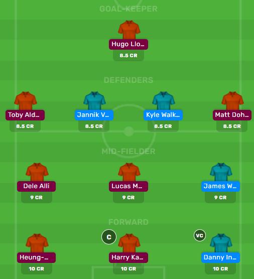 SOU vs TOT Premier League Dream11 Fantasy Team