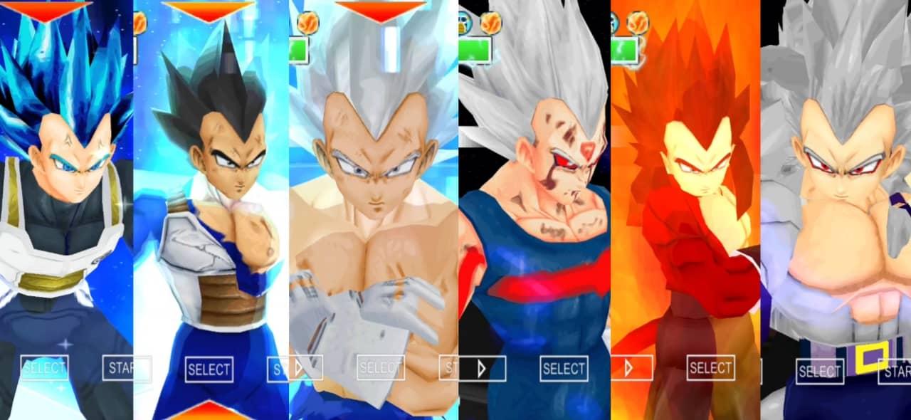 Vegeta all forms Dragon Ball Super