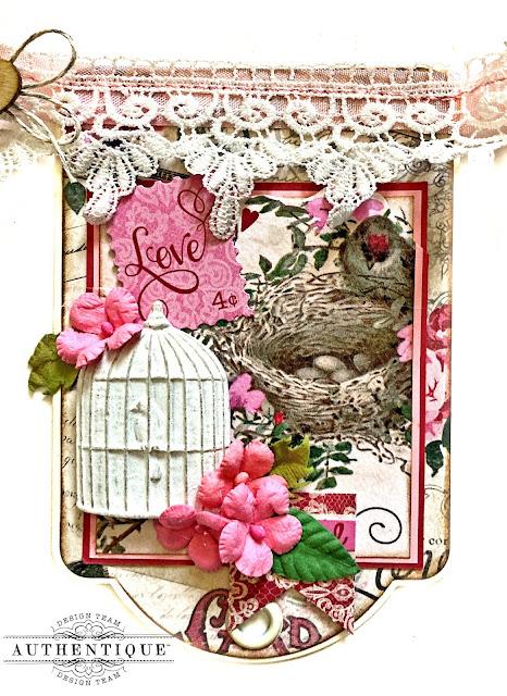 Authentique Romance Valentine Banner by Kathy Clement
