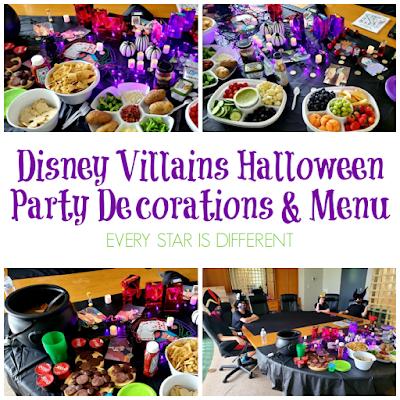 Disney Villains Halloween Party Decorations & Menu