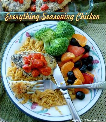 Everything Seasoning Chicken. Everything isn't just for bagels!   Recipe developed by www.BakingInATornado.com   #recipe #dinner