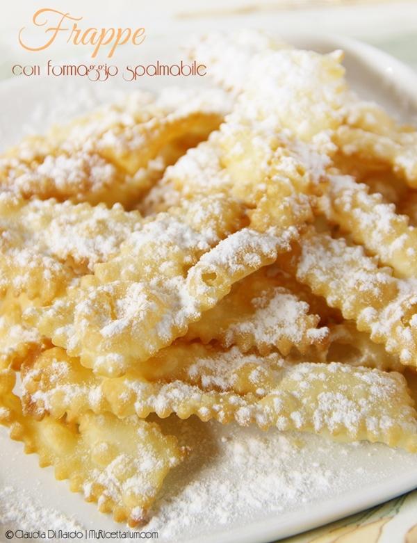 Frappe con formaggio spalmabile