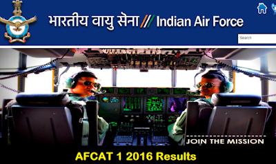 AFCAT 1 2016 Results, AFCAT 1 2016 Cut off marks