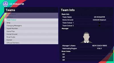 Tunisia league pes21 sp21