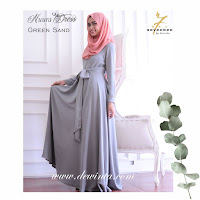 NUURA DRESS GREEN SAND