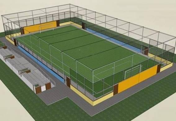 Projeto da 1ª Quadra de Futebol Society de Pompeia começa preparação ... 76d028ccd87fb