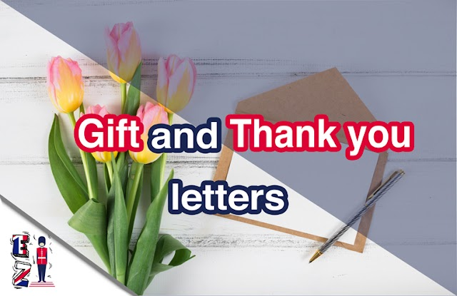 Example of a gift and thank you letters