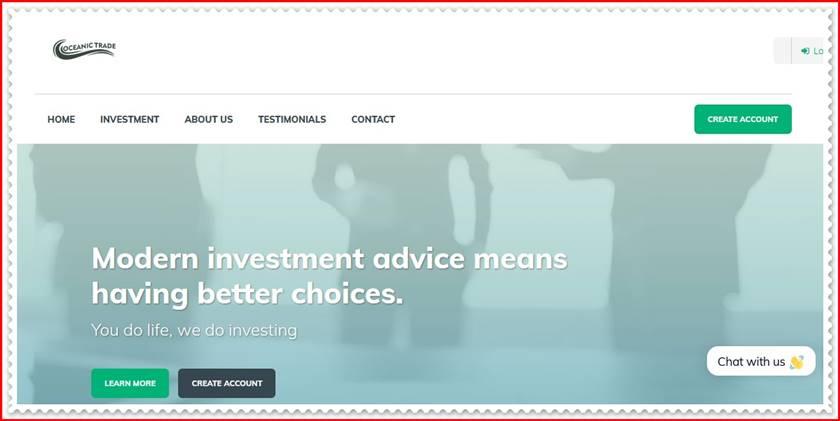 Мошеннический проект oceanictradenow.com – Отзывы, обман, развод. Компания Oceanic Trade мошенники
