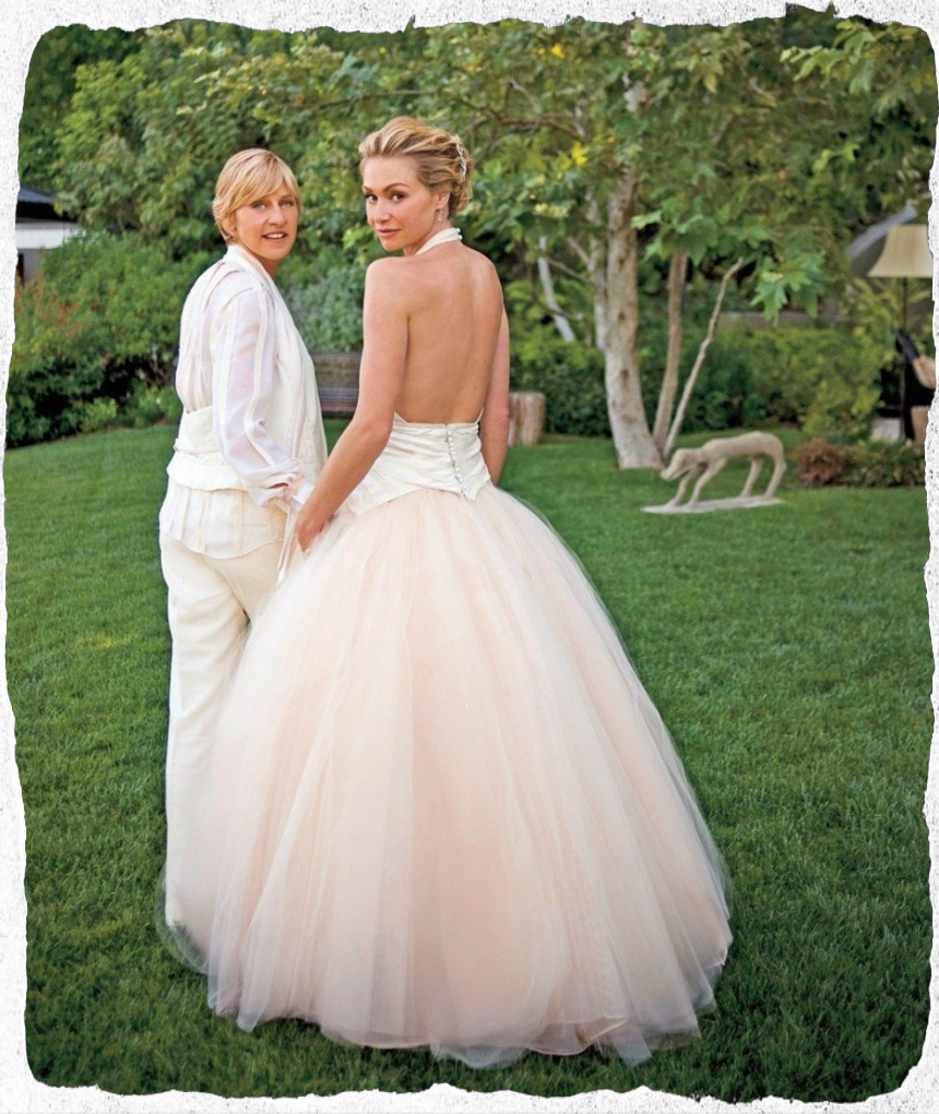 Portia De Rossi Wedding Gown: THE AFASHIONADA: 18 FAMOUS WEDDINGS