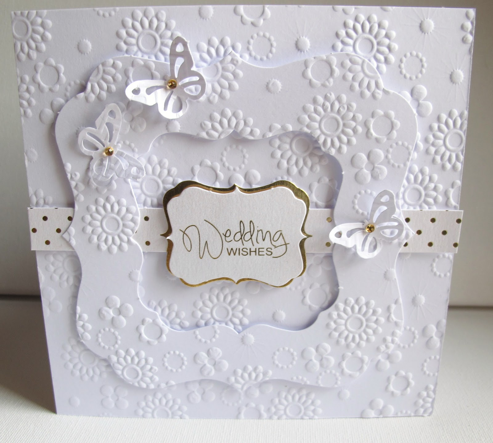 Going Buggy: Embossed Wedding Card