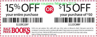 Half Price Books coupons february