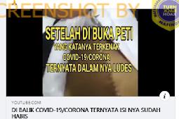 Viral Video Jenazah Pasien Covid-19 Dalam Peti Mati Organ Tubuhnya Habis Diambil, Setelah di Telusuri ternyata Videonya...